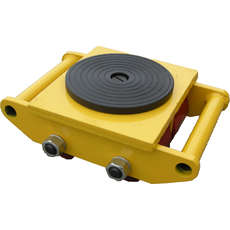 6 Tonne Load Skates - Rubber Top
