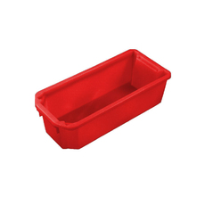 20L Plastic Crate Stack & Nest Container 584 X 267 X 178mm - Red