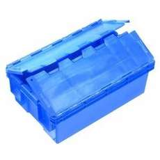 32L Plastic Crate Security  With Lid 575 X 380 X 200Mm Ih3013