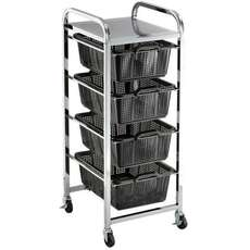 Quad Shelf Strainer Trolley Cart - MT5054
