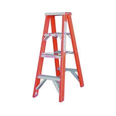 Indalex 4 Step Fibreglass Double Sided Step Ladder - Ladder Height - 1.2 m