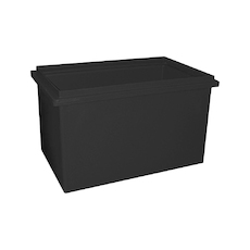 180L Plastic Poly Tank - 820 x 520 x 540mm - Black