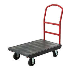 OEASY Platform trolley with 15cm TPR castors 101.9cm x 61cm x 100.6cm - 450kg rated - Black