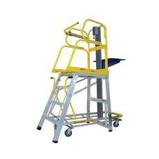 Stockmaster Lift-Truk Manual Order Picking Ladder (4 Step to 14 Step options)