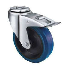 80mm TE21ENR_HB BLUE RUBBER CASTOR
