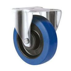 125mm TE31EZB_R BLUE RUBBER CASTOR