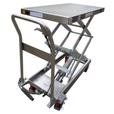 350KG Stainless Steel Scissor Lift Table - Manual