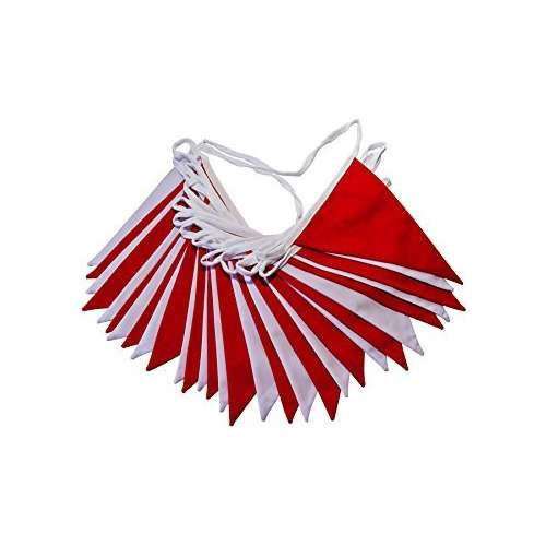 Red/White Flag Bunting 30m roll