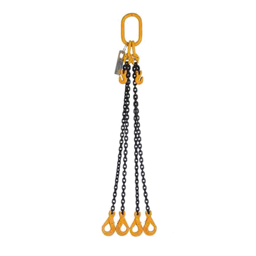 Four Legs Chain Slings 7mm - Made to Order - 1.0m