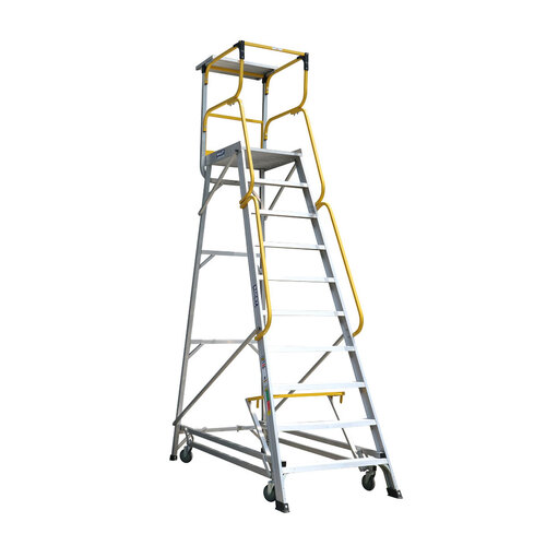 Bailey 10 Step Deluxe Order Picker Ladder 170Kg - 2.76m