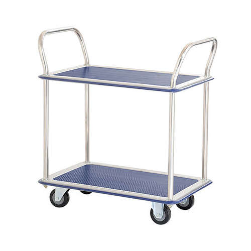220kg Rated Two Tier Double Handle Platform Trolley - HL120D