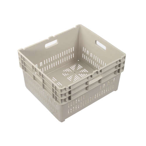 84L Plastic Crate Vented  585 X 522 X 350Mm Ih004