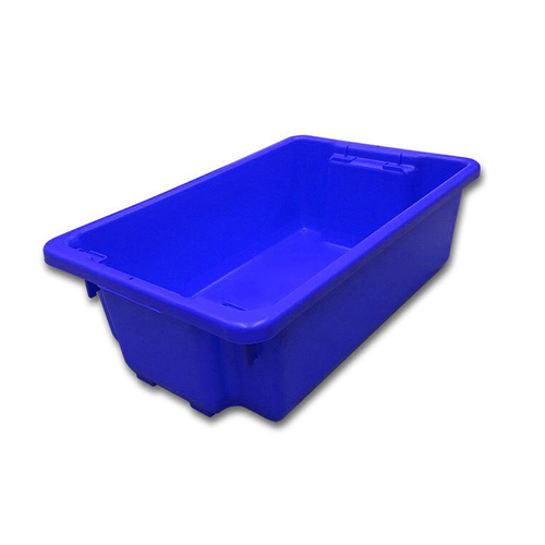 32L Plastic Crate Stack & Nest Container 645 X 413 X 210Mm - Blue Ih060