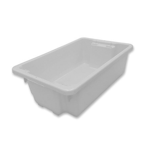 32L Plastic Crate Stack & Nest Container 645 X 413 X 210mm - White