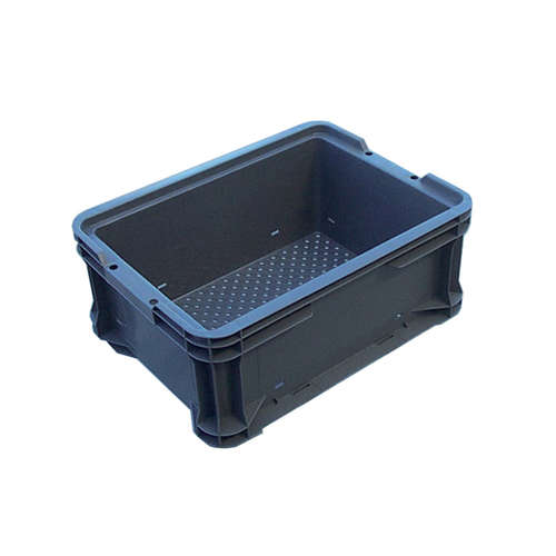 12.5L Plastic Crate Stacking Container Vented 385 X 290 X 165Mm Ih125