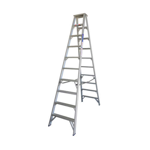 Indalex 180KG 10 Step Double Sided Aluminium Step Ladder Model