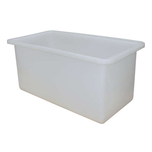 455L Plastic Rectangular Tank - 1230 X 620 X 600mm - White