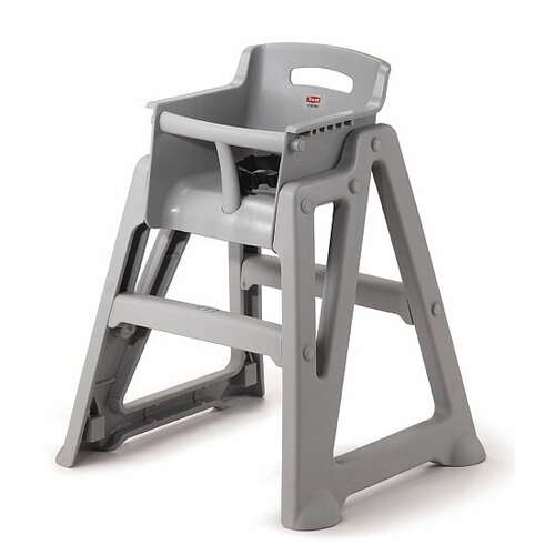 Microban High Chair Flatpack 63.6cm x 58.3cm x 76.8cm - PLATINUM