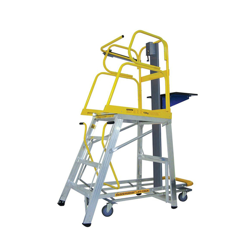 8 Step Lift-Truk Manual Order Picking Ladder - Model - SM-LT08