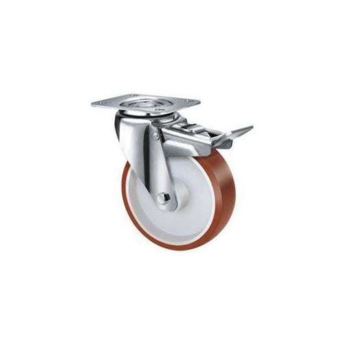 80mm TE22UNI_SB Stainless Steel Poly CASTORS