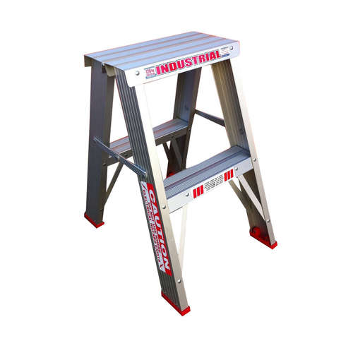 Indalex 2 Step Double Sided Aluminium Step Ladder Model - TRDS2D