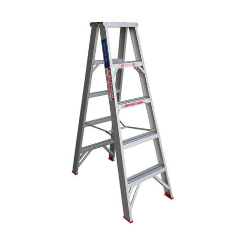 Indalex 5 Step Double Sided Aluminium Step Ladder Model - TRDS5D