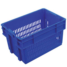 Plastic Stack and Nest Vented Crates